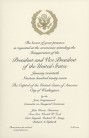Image of the invitation for the 1997 Presidential Inauguration.
