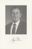Image of the President from the invitation for the 2001 Presidential Inauguration.