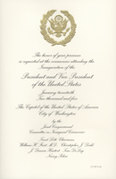 Image of the invitation for the 2005 Presidential Inauguration.