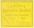 Image: Ticket, 1868 Impeachment Trial, United States Senate Chamber (Cat. no. 16.00064.000)
