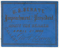Image: Ticket, 1868 Impeachment Trial, United States Senate Chamber (Cat. no. 16.00067.000)