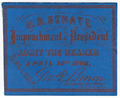 Image: Ticket, 1868 Impeachment Trial, United States Senate Chamber (Cat. no. 16.00069.000)