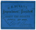 Image: Ticket, 1868 Impeachment Trial, United States Senate Chamber (Cat. no. 16.00077.001)
