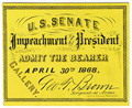 Image: Ticket, 1868 Impeachment Trial, United States Senate Chamber (Cat. no. 16.00080.001)