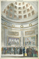 Interior of the Rotunda—Procession to the Portico.