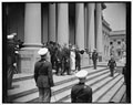 [King George VI and Queen Elizabeth on steps of U.S. Capitol, Washington, D.D., during their royal visit]