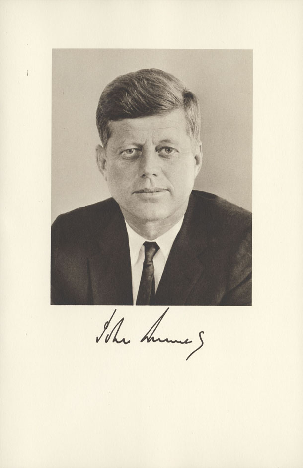 Image of the President from the invitation for the 1961 Presidential Inauguration.