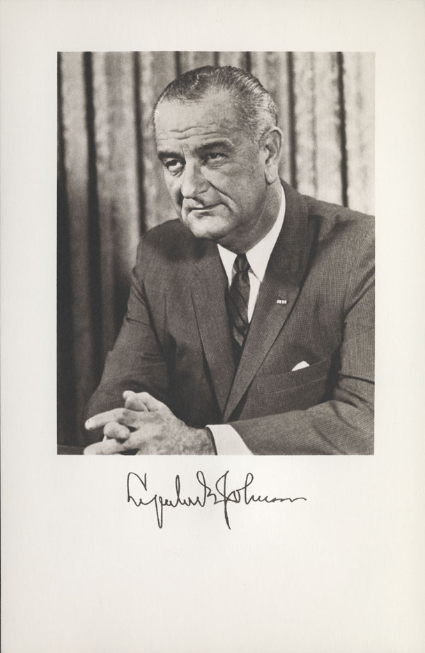 Image of the President from the invitation for the 1965 Presidential Inauguration.