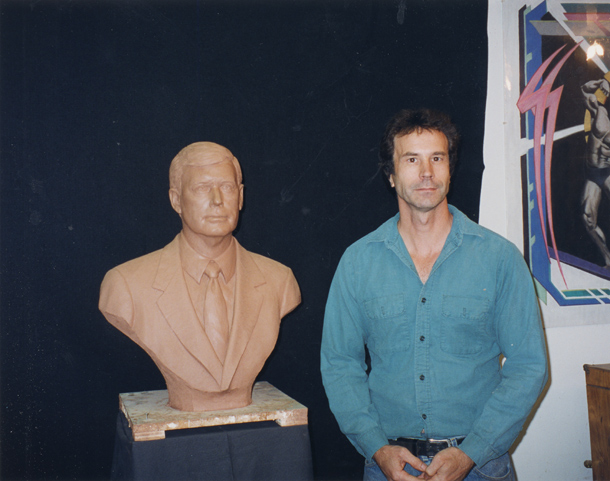 Bust of Dan Quayle with Jeffery Hall