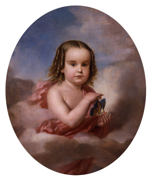 Portrait of a Child with Moth