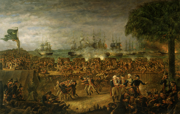 The Battle of Fort Moultrie