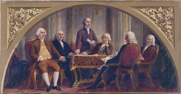 Sketch, Signing of the First Treaty of Peace with Great Britain