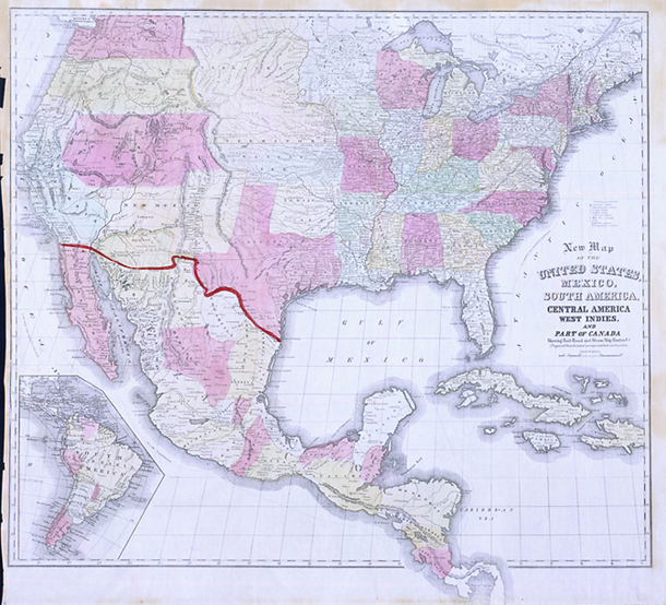 New Map of the United States, Mexico, South America, Central America[,] West Indies and Part of Canada