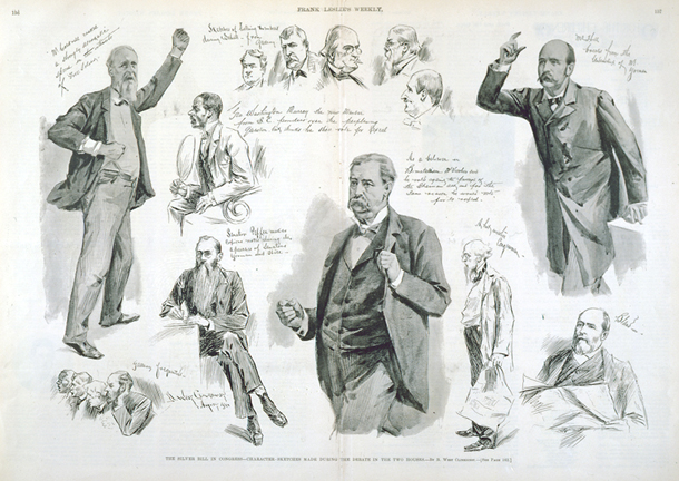 The Silver Bill in Congress—Character-Sketches Made during the Debate in the Two Houses.