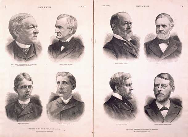 The United States Senate—Portraits of Senators.