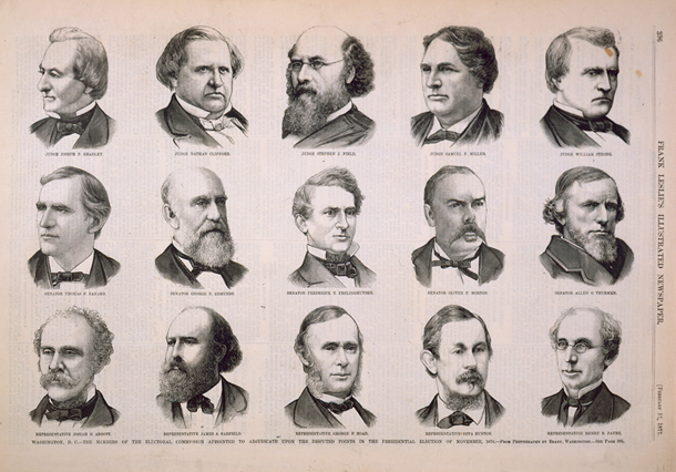Washington, D. C.—The Members of the Electoral Commission Appointed to Adjudicate upon the Disputed Points in the Presidential Election of November, 1876.
