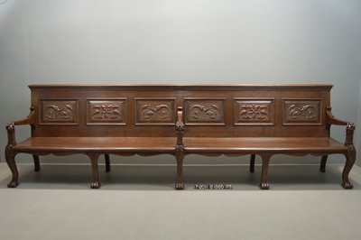 Senate Reception Room Bench After Restoration