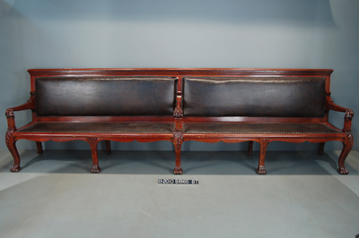 Image: Senate Reception Room Bench Before Restoration