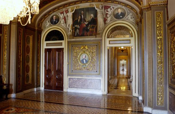 u s  senate  senate reception room south wall
