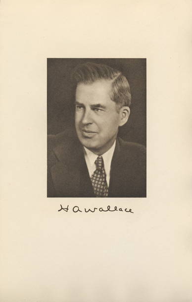 Image of the Vice President from the invitation for the 1941 Presidential Inauguration.