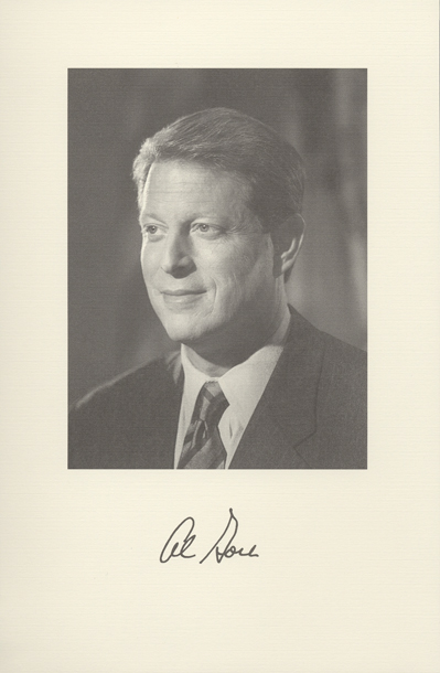 Image of the Vice President from the invitation for the 1997 Presidential Inauguration.