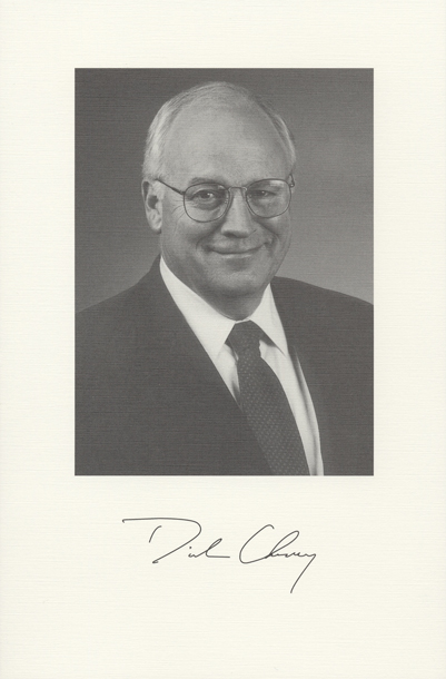 Image of the Vice President from the invitation for the 2001 Presidential Inauguration.