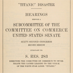 Titanic Hearings Report