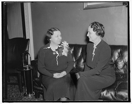 Hattie Caraway seated with Dixie B. Graves, 1937