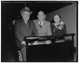 Hattie Caraway with Senators Hitchcok and Austin