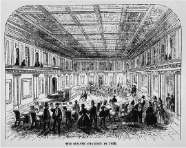 Image of Senate Chamber, 1860