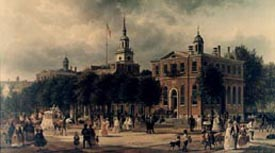 Painting of Congress Hall in Philadelphia