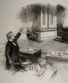 Cartoon of Senate Filibuster, ca. 1870s
