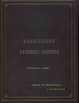 Cover of the Farewell Address Notebook
