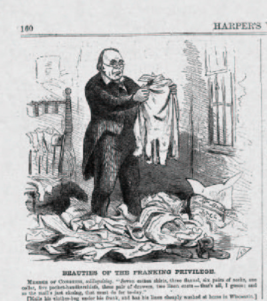 Cartoon, Harper's Weekly, 1860