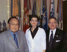 Scott McGeary with wife Linda and Senator Daniel Inouye
