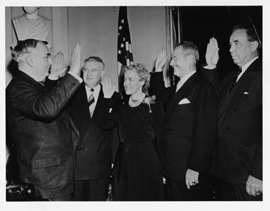 Margaret Chase Smith Taking Oath. Jan 3, 1949