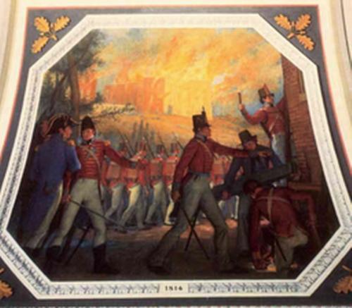 Senate Soldiers Burning Capitol