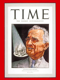 Time Magazine cover featuring Harry S Truman, March 8, 1943