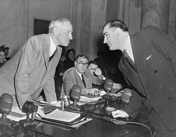 Photograph of Millard Tydings and Joseph McCarthy
