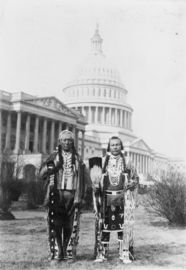 Native Americans in Front of the Capitol