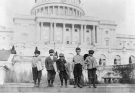 Newsboys in front of Capitol