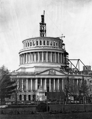 Photograph of Capitol dome, 1861