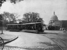 Streetcars on the Capitol grounds