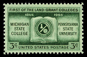 1955 stamp commemorating the land-grant universities