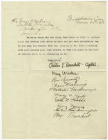 Petition from women doing farm labor in Middletown, Connecticut, in favor of suffrage, 1918