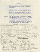 Resolution of the [Rhode Island] Union Colored Women's Clubs Supporting the Federal Woman Suffrage Amendment, 1916