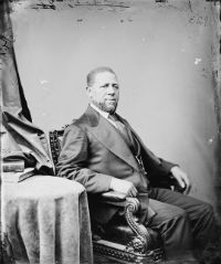 Studio photograph of Senator Hiram Revels.