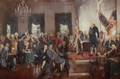 Scene at the Signing the Constitution of the United States by Howard Chandler Christy