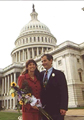 Image: Richard Arenberg and his wife, Linda, on the day of their Capitol wedding.