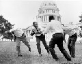 photo of senators playing football